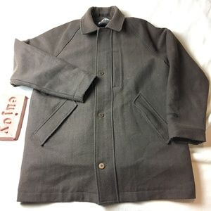 Columbia XCO Brown Herringbone Wool Blend Jacket